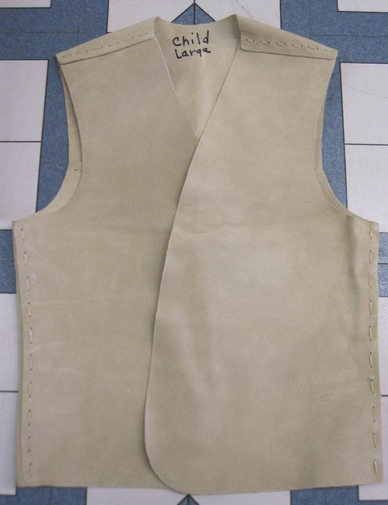 yguide vest kit, indian guide vest kit, suede vest kit