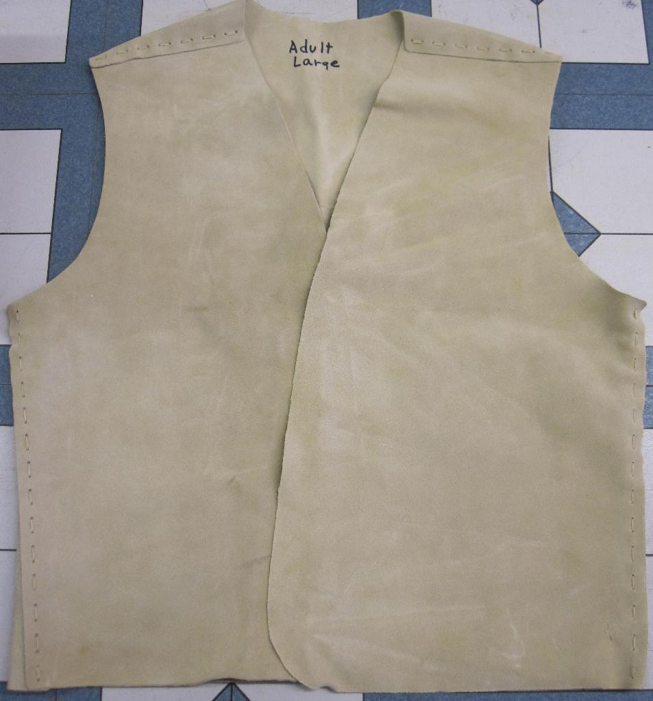 Yguide Suede Vest Kits ~ymca indian guide vest kits, adventure guide vest kits